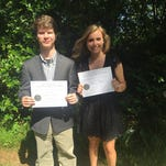 Caleb Robinson and Mackenzie Brown were honored at the 2016 Mississippi Scholastic Writing Awards ceremony.