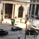 'Transformers' filming in the D: Watch a beer truck blow up