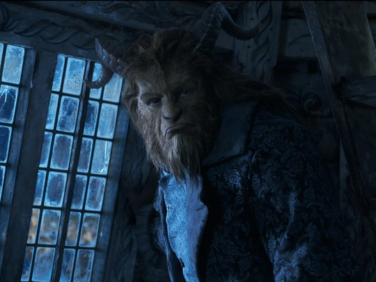 Gruff at first, the Beast (Dan Stevens) breaks out