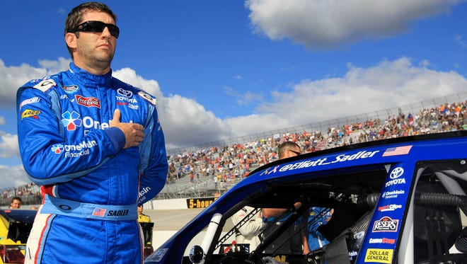 Nationwide Series driver Elliott Sadler, shown here at Dover International Speedway on Sept. 28, will fill in for Brian Vickers in four of the remaining Cup races.