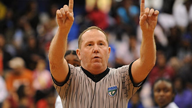 Pensacola's Chip Boes, shown in this file photo as a high school basketball referee, has spent his career helping grow basketball in the area, which is something he hopes to continue as co-director of new holiday prep tournament Thursday at Gulf Breeze High.