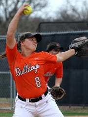 Burkburnett's Jocelyn Bright struck out more batters and had a lower ERA than any area pitcher in 2018.