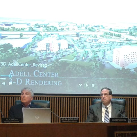 Novi planning officials praise Adell Center concept, but delay taking action on plan