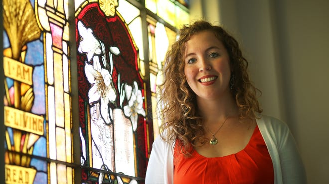 The Rev. Emily C. Goodnow of the First Congregational Church, a church that affirms same-sex marriages.