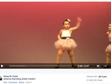 "Six-year-old Johanna Colon stole the show at her dance recital over the weekend during a tap dance routine to Aretha Franklin's ""Respect."""
