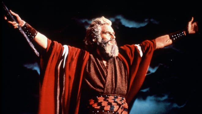 Charlton Heston played Moses in 'The Ten Commandments,' and also provided the disembodied voice of God in the 1956 classic.