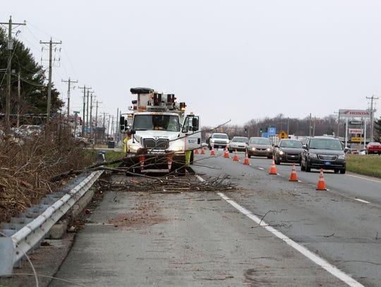 Delmarva Power crews work Friday afternoon to repair