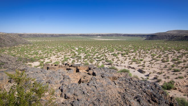 Kilbourne Hole, remnant of an ancient volcanic explosion in the Potrillo Mountains in southern Doña Ana County.