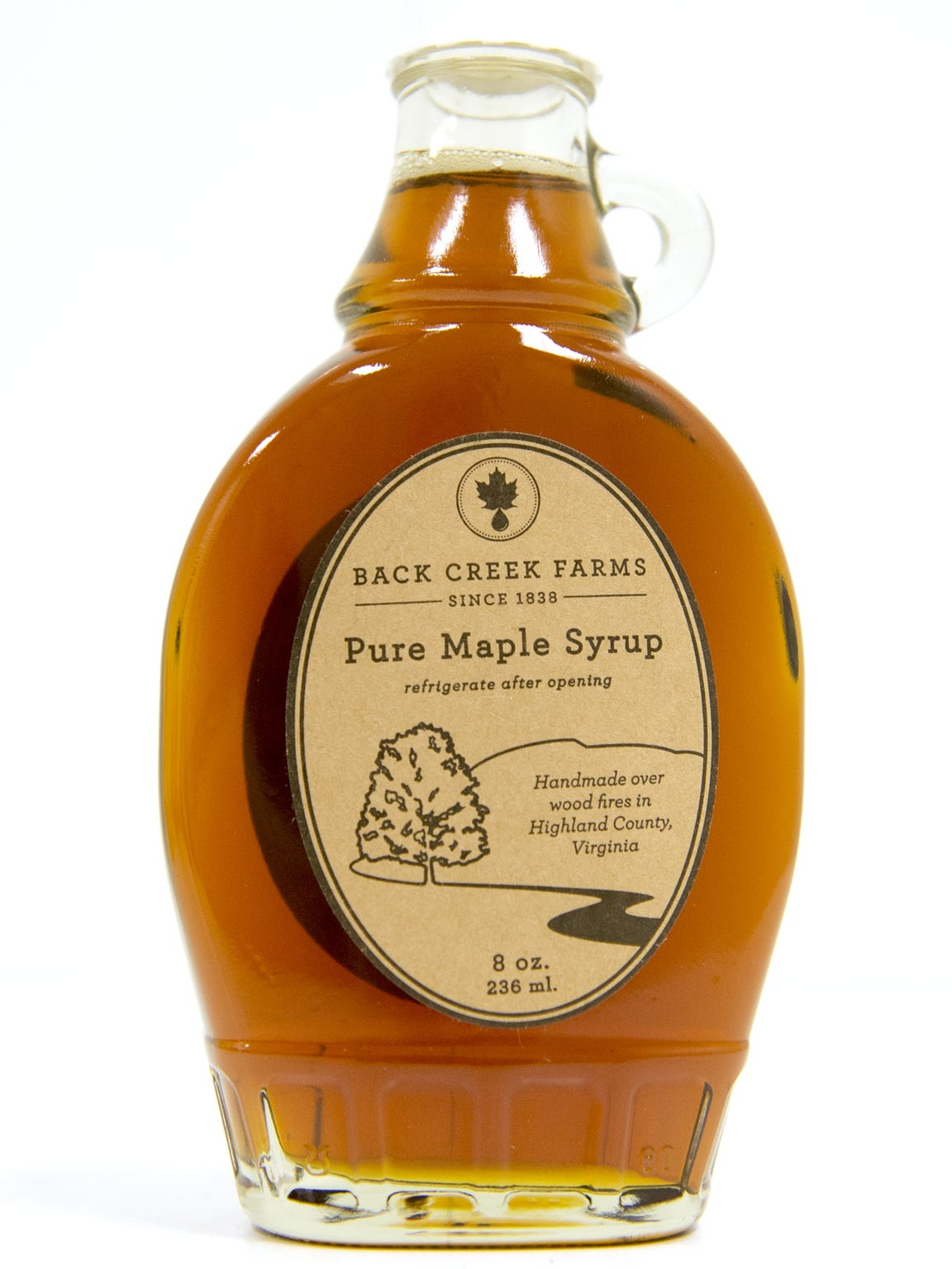 Back Creek Farms maple syrup from Highland County