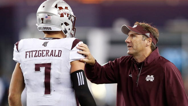 Mississippi State coach Dan Mullen realizes he has to be patient with Nick Fitzgerald.