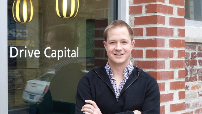 Drive Capital founding partner Chris Olsen, in front of DC headquarters in Columbus, Ohio. Drive has a $250 million fund to find the next great Midwest tech firm.