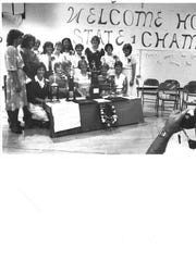 Hoover players are honored after winning the 1982 state summer softball championship.