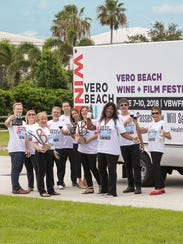 Vero Beach Wine + Film Festival organizers, from left,