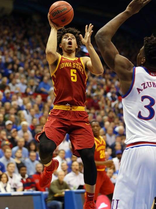 NCAA Basketball: Iowa State at Kansas