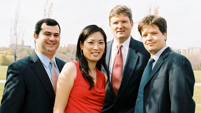 "Alexander ""Sascha"" Mandl (from left, violin), Jeanyi Kim (violin), Nathan Hackett (viola) and Adrien Zitoun (cello) form Milwaukee's Philomusica String Quartet."