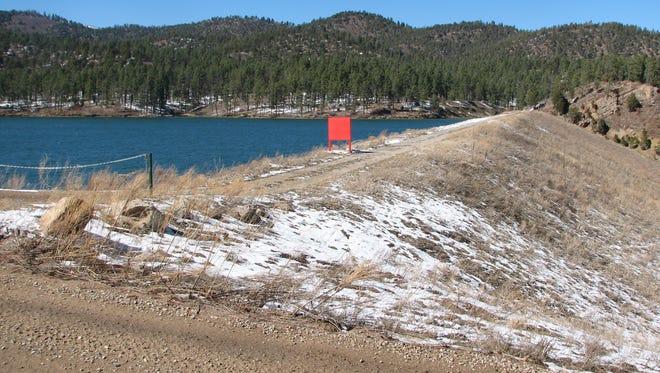 Mescalero Lake was formed by an earthen dam.