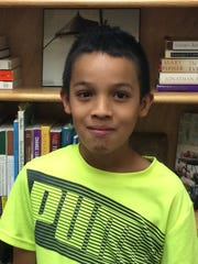 Luis Gaytan, a fifth-grader at Doty Elementary School in Green Bay on the first day of school.