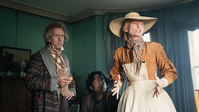 Mr. Dick, David Copperfield, and Betsey Trotwood are on the lookout for donkeys.