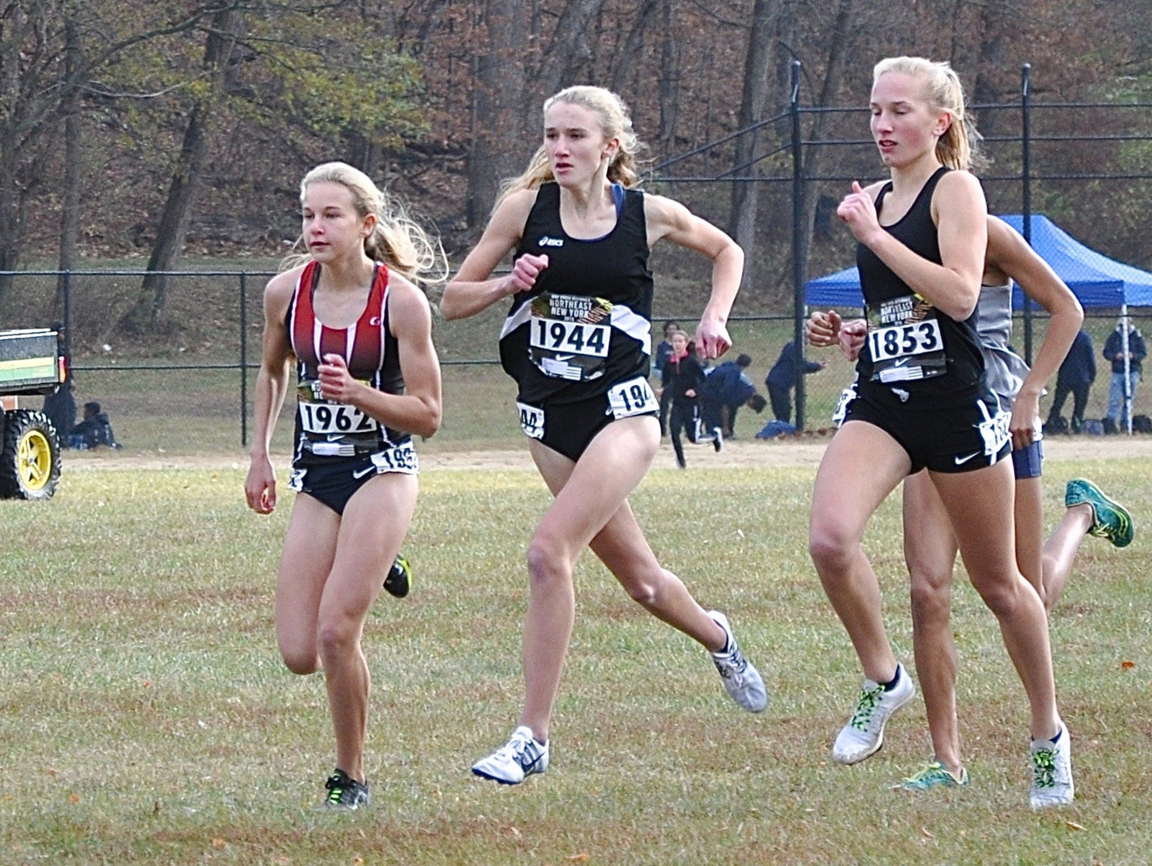 North Rockland's Katelyn Tuohy (l) leads last year's