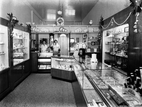 Inside Walker's Jewelry Store in Stuart in December 1958.