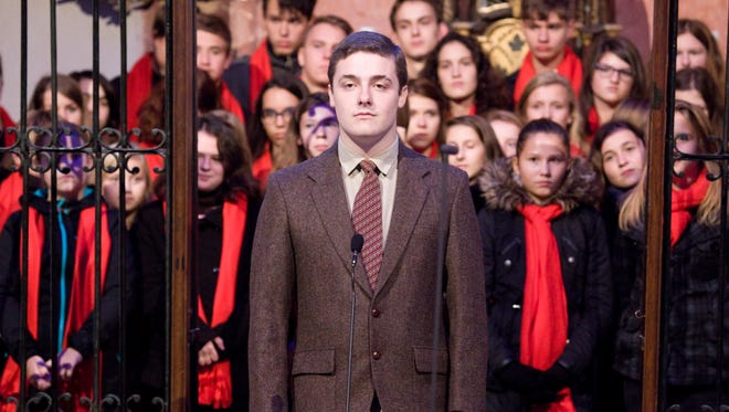 """Blanchet junior Tony Beyer, 17, sings """"Ave Maria"""" at Zelená Hora in the Church of St. John Nepomuk in the Czech Republic in October 2015 while on tour with the Inspire Ensemble directed by Carol Ann Manzi, artist in residence for the Salem Catholic Schools Foundation. Beyer is one of 25 high school students chosen to attend the 2016 Opera Institute at American University in Washington, D.C."""