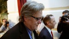 White House chief strategist Steve Bannon arrives for