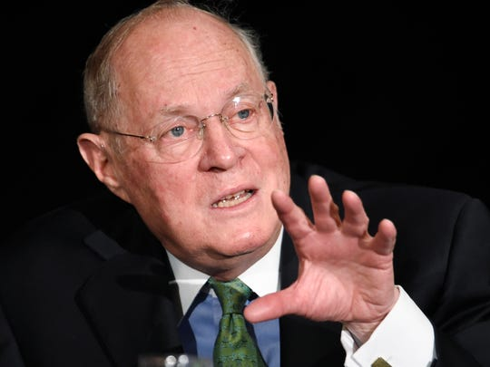 Justice Anthony Kennedy suggested using both total population and eligible voters in drawing election districts.