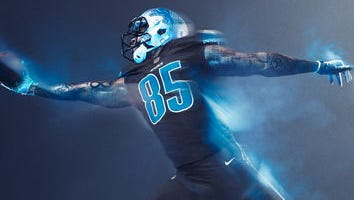 """The Lions unveiled their all-black """"Color Rush"""" uniforms on Tuesday."""