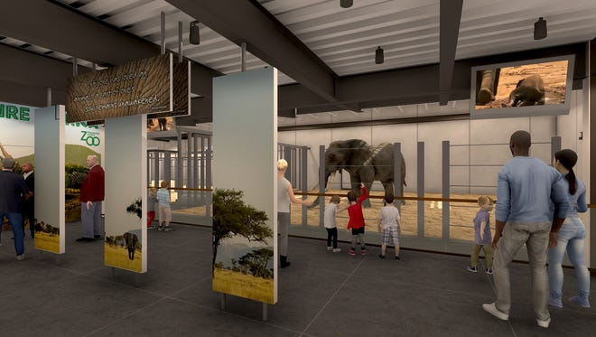 A rendering of inside the new elephant barn. We Energies Foundation donated $750,000 which will help in the Society's first phase of the Window to the Wild Capital Campaign, Adventure Africa.