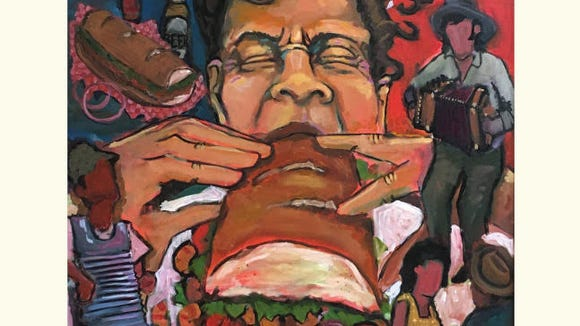The official artwork for the Acadiana Po-Boy Festival