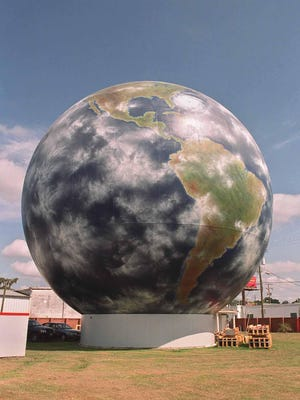 File photo of Savannah Gas Company's giant globe tank.