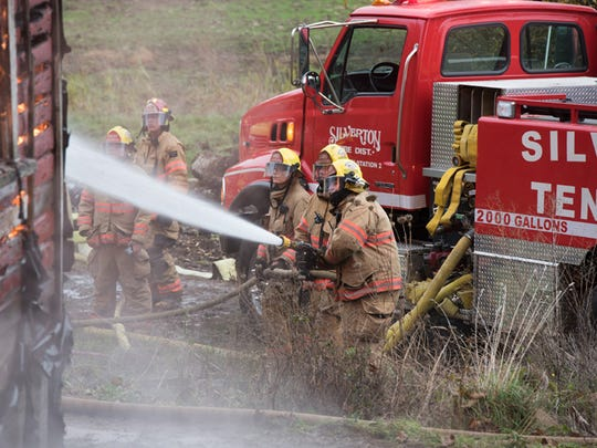 Silverton Fire District volunteer firefighters during