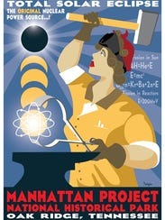A commemorative poster has been made for eclipse viewing
