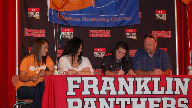 Franklin senior Kaylee Corbin has signed to play college softball for Georgia Highlands.