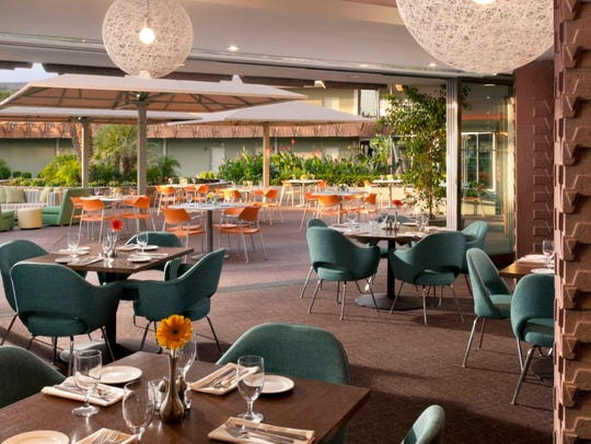 The dining room at ZuZu at Hotel Valley Ho in Scottsdale.