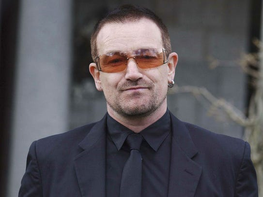 Bono will perform with U2 Sept. 10 at Lucas Oil Stadium.