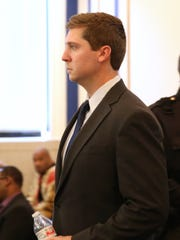 Ray Tensing enters the courtroom on the third day of