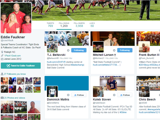 Eddie Faulker recently followed several Ball State