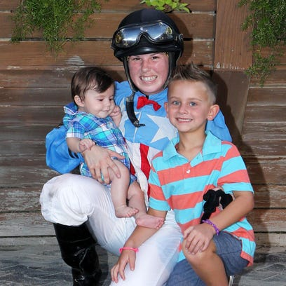 Ashley Broussard with her young son Bentley and 6-year-old