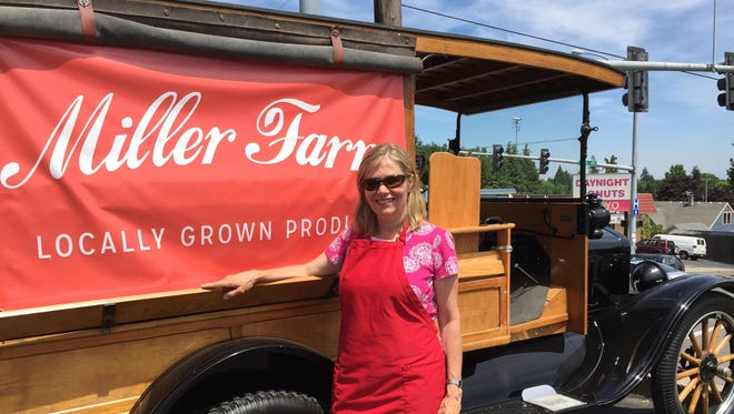 """Julie Miller received this restored 1918 Ford Model T """"huckster"""" truck as a Valentine's Day gift in 2014 from her husband, Dr. Gordon Miller."""