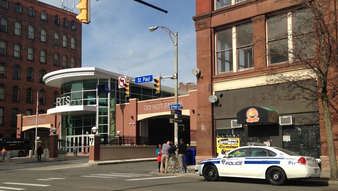A teen was stabbed at the Rochester Transit Center on April 13, 2015.
