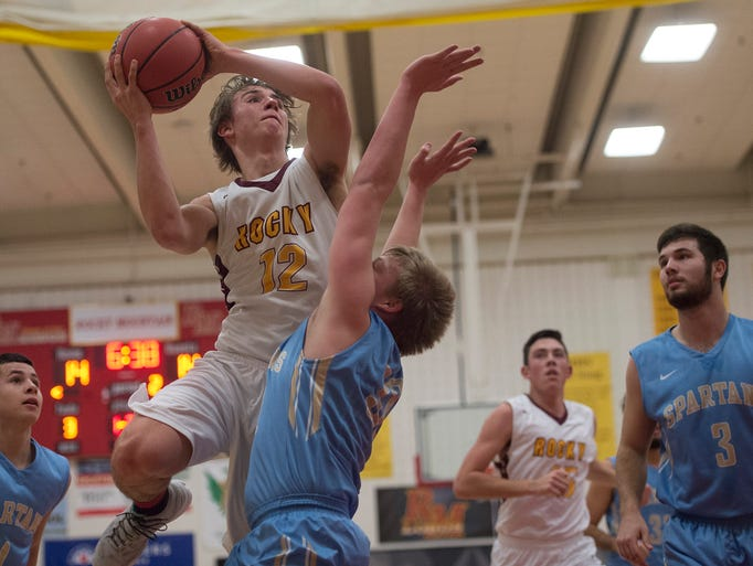 Joseph Urynowicz of Rocky Mountain High School moves