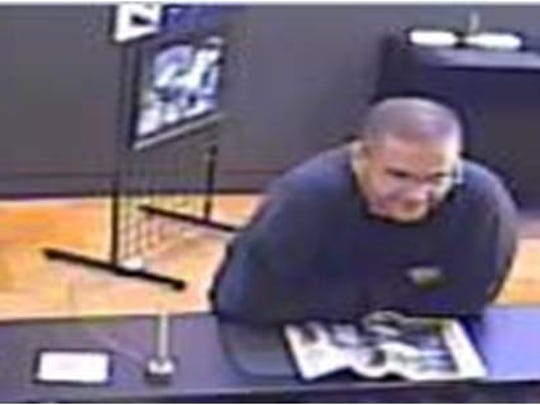 Police are asking for the public's help in identifying this man suspected of robbing a Umpqua Bank branch in Eugene this afternoon.