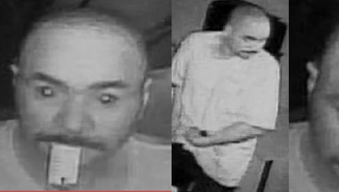 Police are looking for this man in connection with burglaries of a Lansing car dealership.
