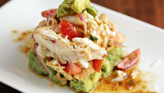 The avocado and king crab appetizer from Steak 44.