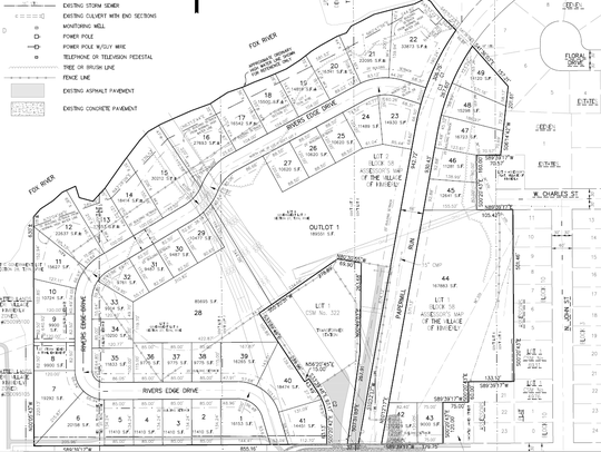 The preliminary plat for new housing development at