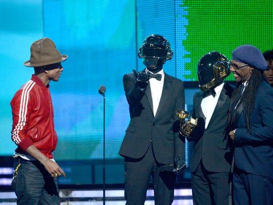 Pharrell Williams at the Grammys