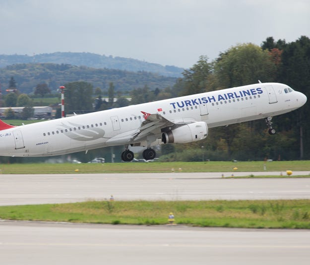 This file photo from October 2017 shows a Turkish Airlines Airbus A321.