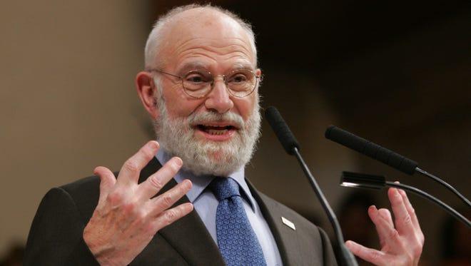 Oliver Sacks speaks at the World Science Festival in New York in 2008.