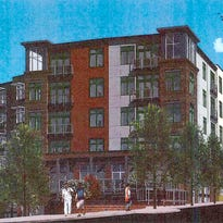 A rendering of the proposed RAD Lofts at the corner of Roberts Street and Clingman Avenue.